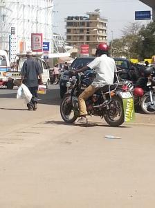 A Boda Boda driver